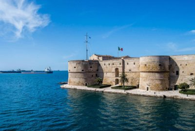 Taranto - The City on 2 seas. Image of Taranto, the City on 2 seas and its castle