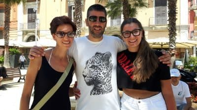 Family tour. Image of a family tour in Bari
