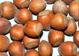 Nocciola del Piemonte. Immagine de i confetti pugliesi, la nocciola del Piemonte